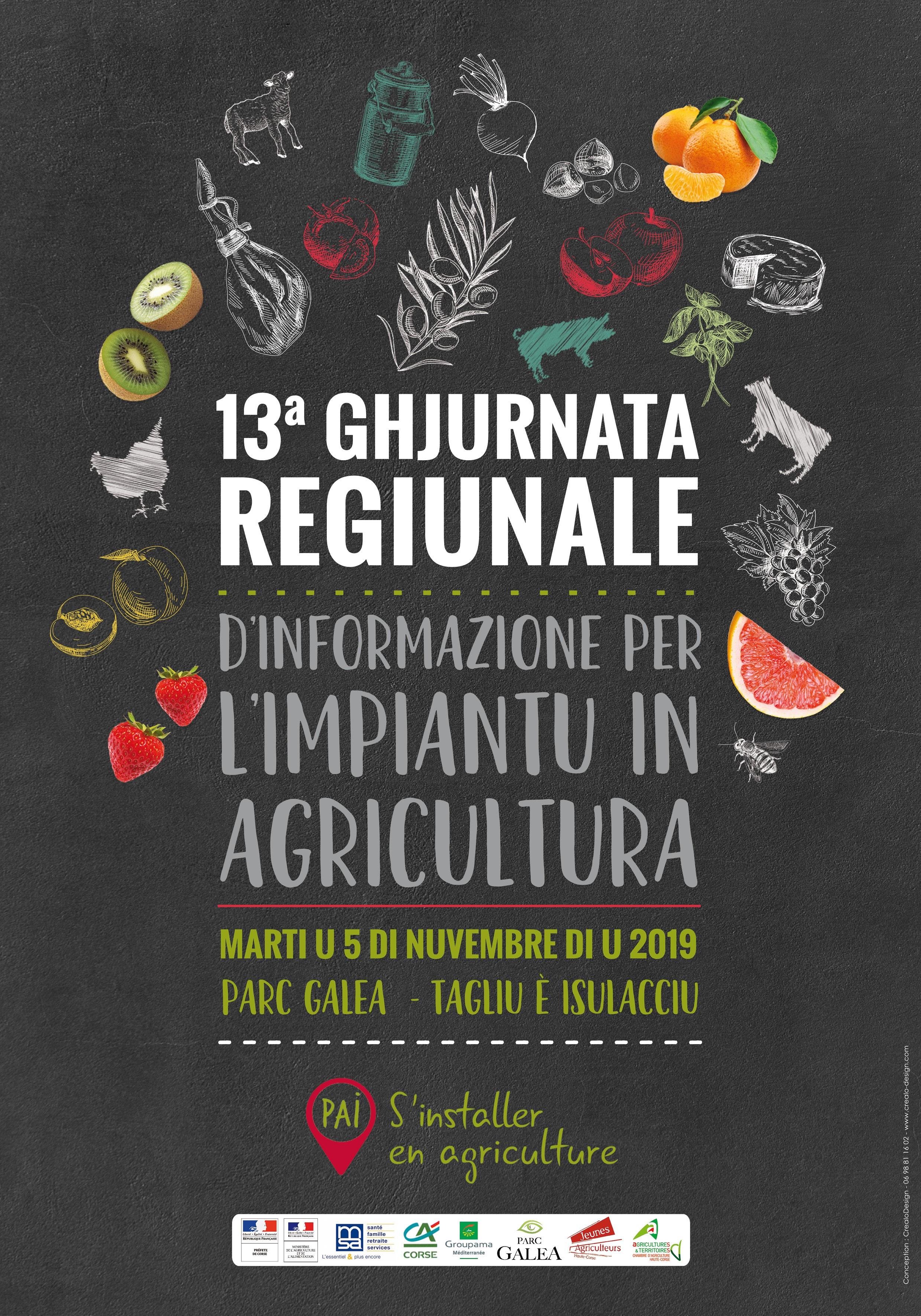 Journée Régionale pour l'installation en agriculture le 05 Novembre 2019 au Parc Galea